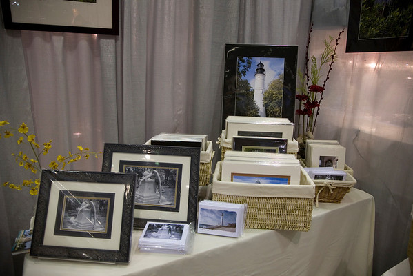 The weeping angel in her special frame along with cards and other matted items.