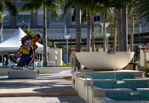 More Britto and view from the other side. A very Miami place to begin our experience.
