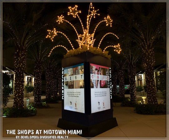 Midtown Miami was the venue of our first art display. The time was December of 2008, the Month of Miami Artist Britto....and coinciding with the renown Art Basel Event. The shops are beautiful and it was a grand occasion to see and sell art!!