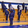 January 18, 2021 - Mayor Brandon M. Scott and Commissioner Michael S. Harrison Greet Police Recruit Class 21-01 the largest class in the new academy