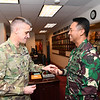 The Indonesian Army Chief of Staff, Gen. Andika Perskasa visits the office of the U.S. Army Deputy Chief of Staff, G-1, Lt. Gen. Thomas C. Seamands during an official visit at the Pentagon, Arlington, Va., January 28, 2020.(U.S. Army photo by Mr. Leroy Council)