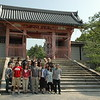 Kyoto, Ninnaji Temple, after morning service, our group poses in front of Chu-mon Gate.