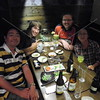Tokyo, Watami Izakaya Restaurant, new friends Keiichi and Piching Takiyanagi with Dane Brooks and Corey Brann.