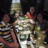 Tokyo, Watami Izakaya Restaurant, new friends Keiichi and Piching Takiyanagi with Dane Brooks and Corey Brann.