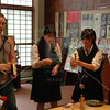 Tokyo, Shitamachi Museum, Matthew Kohlmorgen and junior high school students try out traditional toys.