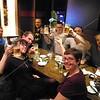 Kyoto, Watami Izakaya, Jeff Cox, Brad Keith, Emilie Helman, Dr. Jennifer Morris, Corey Brann, Jeff Cox, Matthew Kohlmorgen and Noah Joseph enjoy some refreshing Japanese beer.