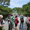 Kamakura, Jason Herzog, in the straw hat, led an optional tour of Kamakura.  Here the group admires the Daibutsu.