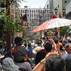 Tokyo, Asakusa, Sanja Matsuri, some of our group following a neighborhood mikoshi through the crowded streets.