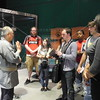 Tokyo, Edo-Tokyo Museum, Volunteer Guide Mr. Yamamoto talks with our students about his experiences during World War II.