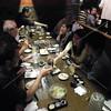 Tokyo, Watami Izakaya Restaurant, Brad Keith and Sachiyo Yoshida enjoy a toast together.