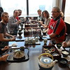 Tokyo, Edo-Tokyo Museum, our group enjoys an obento lunch while enjoying the views of the city from the 7th floor restaurant.