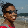 Kamakura, Briana Reynolds enjoys the sea breeze.