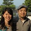 Kyoto, Ninnaji Temple, Kayo Yoshida and Eiji Wada who accompanied the group for the weekend in Kyoto.