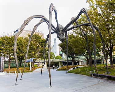Maman Spider Sculpture, 30ft-tall bronze spider sculpture by Louise Bourgeois.  It's one of six castings from the original 1999 work.