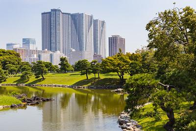Cityscape from Hamarikyu Gardens