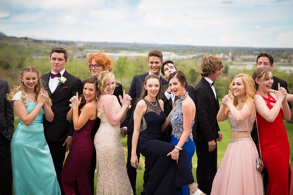 Jenna's AWest Prom Group 05-06-2017