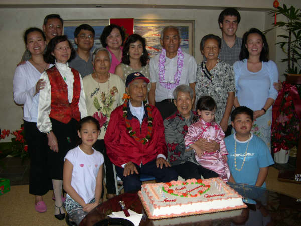 Grandparents, chang's, Hsiung's and Ho's in his 98 birthday party