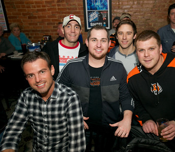Nick, Rob, Matthew, Nick and Todd of Cincinnati at Jerzees for the Bengals game Saturday