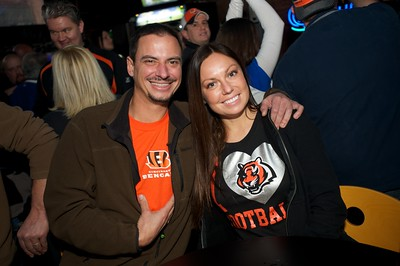 Mike Fischer and Jenny Ginn of NKY at Jerzees for the Bengals game Saturday
