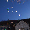 During the vigil on Saturday night for Jeremiah Oliver balloons were released into the air. SENTINEL & ENTERPRISE/JOHN LOVE