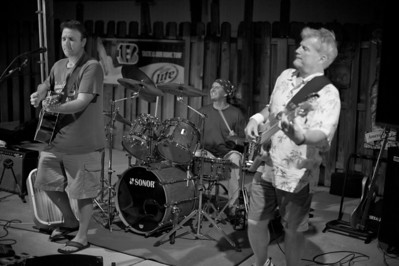 Ben Walz Band performs at Jerzee's in Newport Saturday night for the soft opening of their new outdoor patio.
