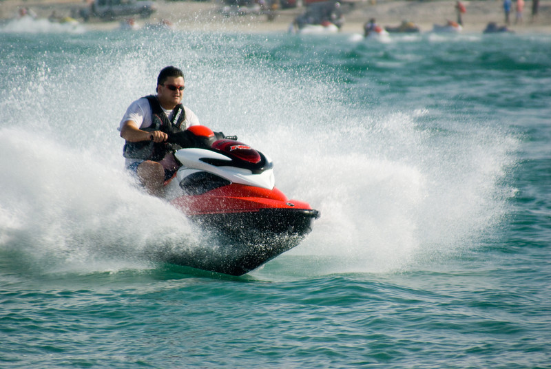 Mark, showing the waves who's boss!