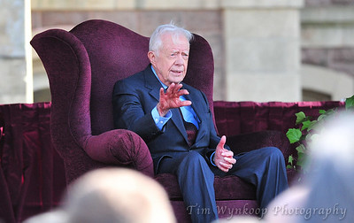 4/22/2013, Easton, PA: Former President Jimmy Carter, speaks at Lafayette College on April 22, 2013. Photo by TIM WYNKOOP