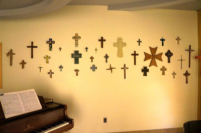 A before shot of the crosses featured in the prayer room before construction began.  See a virtual tour of the new Jochum Performing Arts Center here: http://www.lutheranwest.com/UTS/Media-Gallery/Jochum-Architectural-Rendering