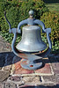 One of a pair of bells that flank the rear of the house!