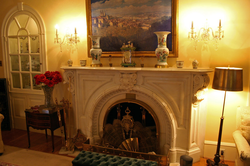 Living Room - Fireplace was once in the White House.  It was removed by President Grant in 1873.