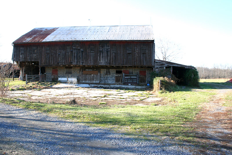 The barn that was used as a hospital.  Pretty much the original.