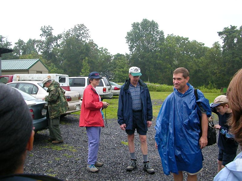 Everyone is equipped for rain, hail, or floods all of which are predicted for the day!
