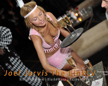 Las Vegas club servers are never shy as seen in this photo at Joel Jarvis The LINKLV Mingle Mayhem Party at Blush Nightclub in the Wynn Casino Las Vegas photograph by Mark Bowers
