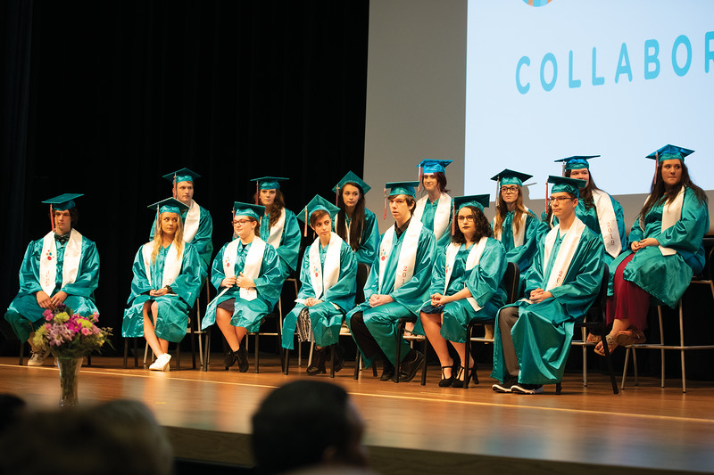 Matthew Gaston | The Sheridan Press<br>The 2019 graduating class from the John C. Schiffer Collaborative School Saturday, May 25, 2019.