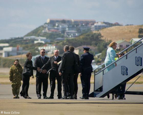John Howard departs from Wellington International Airport, 16 February 2007