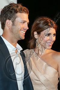 LOS ANGELES, CA - OCTOBER 17:  Cutter Dykstra (L) and actress Jamie-Lynn Sigler attend the John Varvatos West Hollywood 10 year anniversary celebration featuring Paul Weller at John Varvatos Los Angeles on October 17, 2012 in Los Angeles, California.  (Photo by Chelsea Lauren/WireImage)