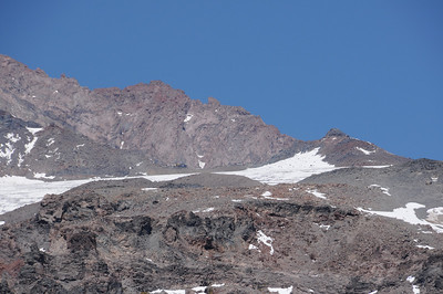 That's camp Muir. You can see the guide hut if you zoom in.