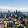 Downtown Seattle as seen from the Space Needle.