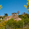 Interesting house on top of a bluff over Elliott Bay Marina