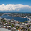 Lake Union as seen from the Space Needle.