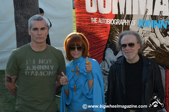 Henry Rollins - Linda Ramone - Tommy Ramone - 8th Annual Johnny Ramone Tribute - at The Hollywood Forever Cemetery - Los Angeles, CA - August 19, 2012