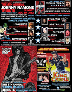 8th Annual Johnny Ramone Tribute - at The Hollywood Forever Cemetery - Los Angeles, CA - August 19, 2012