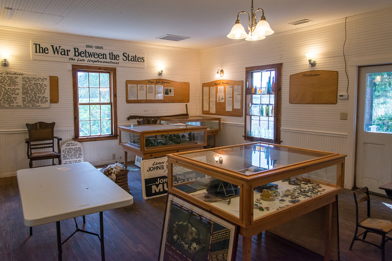 The Walnut Hill School House. Volunteers are working to catalog and display artifacts.