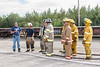 Joint Fire Training 2006 August 26 - Moosonee firefighters with instructor