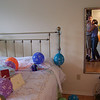 I filled the room with 40 balloons!