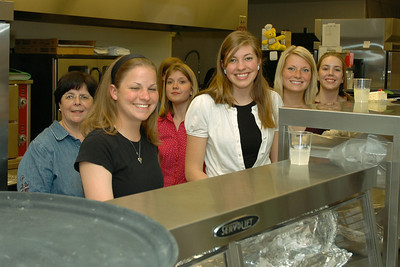 Members of the High School Honors Society helped in serving the meals.