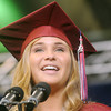 Globe/Roger Nomer<br /> Chloe Hadley, Joplin High School senior class president, addresses her fellow graduates on Monday.