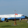 Globe/Roger Nomer<br /> Airforce One carrying President Barrack Obama lands at Joplin Regional Airport on Monday.