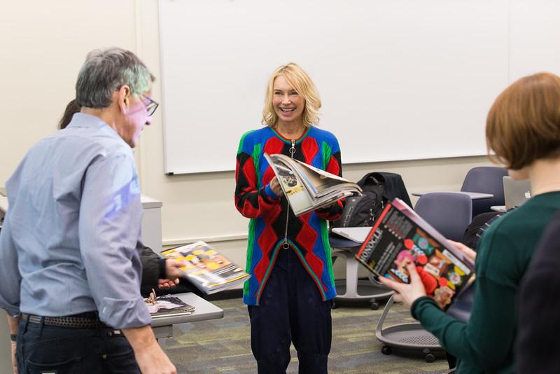 Magazine Entrepreneur/Writer Visits Journalism Class