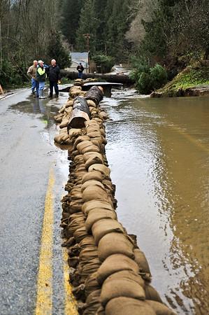 Lake Samish Wash Out - Flood